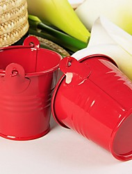 cheap -12pcs/set - Red Tin Candy Pails Party Decorations 7 x 6 x 6 cm/pcs