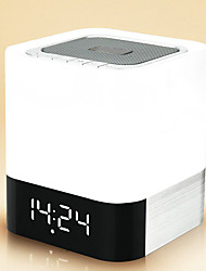 Dy28 Wireless bluetooth speaker Portable LED light Alarm Clock Support Memory card
