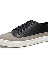 cheap -Men's Fashion Sneakers Spring Summer Comfort Couple Shoes Suede Leather Outdoor Athletic Casual Split Joint Trainers Black White