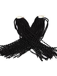 dreadlocks Tresse Natté Tresses au Crochet Bouclé Bouncy Curl 56cm Fausses Dreads Fausses Dreads Crochet Dreadlock Extensions Cheveux 100