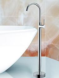Недорогие -Современный Ар деко / Ретро Modern Ванна и душ Широко распространенный Керамический клапан Одно отверстие Одной ручкой четыре отверстия