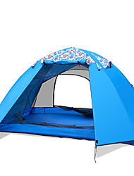 preiswerte -2 Personen Zelt Doppel Camping Zelt Einzimmer Falt-Zelt Wasserdicht Windundurchlässig UV-resistant Klappbar Atmungsaktivität für Wandern