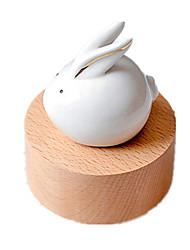 Недорогие -музыкальная шкатулка Игрушки Rabbit Цилиндрическая Керамика Дерево Куски Универсальные Подарок