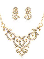 abordables -Mujer Conjunto de joyas - Moda, Euramerican Incluir Collar / pendientes Dorado Para Boda / Fiesta / Aniversario / Pedida / Regalo / Diario
