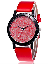 Women's Fashion Watch Chinese Quartz PU Band Casual Black White Blue Red Pink