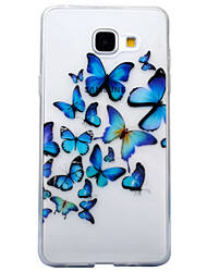 cheap -For Samsung Galaxy A3 (2016) A5 (2016) Case Cover Butterfly Pattern High Transparent TPU Material IMD Craft Mobile Phone Case  A3 (2017) A5 (2017)