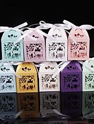 cheap -50pcs Cute Deer Laser Cut Candy Box Baby Shower Favors Party  Decoration