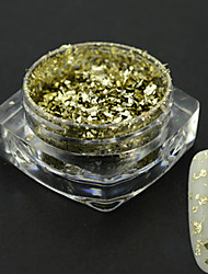 1g/bottle Hot Fashion Light Gold Starry Sky Effect Irregular Flakes Nail Glitter Powder Magical Mirror Nail Art Beauty Shining Decoration 3CS07