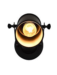 QSGD AC220V-240V 4W  E27 Led Light Painted Steel Wall Lamp Dumb Black American Coffee Decoration Retro Wall Light Lightsaber Lamp On Wall