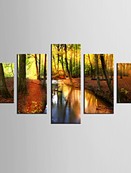 Giclee Print Landscape Modern Pastoral,Five Panels Canvas Any Shape Print Wall Decor For Home Decoration