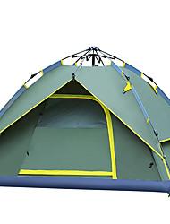 Недорогие -3-4 человека Световой тент Двойная Палатка Однокомнатная Автоматический тент С защитой от ветра Ультрафиолетовая устойчивость