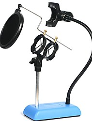 AS Senza fili Microfono di Karaoke USB Blu