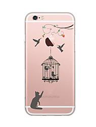 preiswerte -Für iPhone X iPhone 8 Hüllen Cover Ultra dünn Muster Rückseitenabdeckung Hülle Katze Weich TPU für Apple iPhone X iPhone 8 Plus iPhone 8