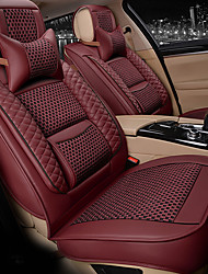 cheap -ODEER Car Seat Covers Seat Covers Black Orange Beige Coffee Red PU Business