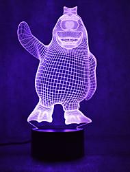 Tortues de pingouin de Noël touchent la teinte de la lumière de la nuit 3d led 7colorful décoration atmosphère lampe nouveauté éclairage