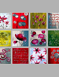 Handgemalte Menschen Horizontal,Modern Mehr als fünf Panele Leinwand Hang-Ölgemälde For Haus Dekoration