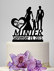 economico -Decorazioni torte Giardino / Classico / Rustico Tema Coppia classica Acrilico Matrimonio / Anniversario / Compleanno con OPP