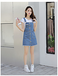 Women's Going out Casual/Daily Beach Simple Cute Active A Line Sheath Dress,Solid Strap Above Knee Sleeveless Cotton Linen Spring Summer
