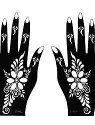1 Pair Fashion Hollow Hand Template Sweet Flower Totem Nail Art Left&Right Hand Tattoo Stickers Beautiful Design Tattoo Beauty Sweet Decoration S195