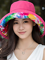 Women Foldable Travel Summer Double-sided Wear Printing Fisherman Sun Beach Hat