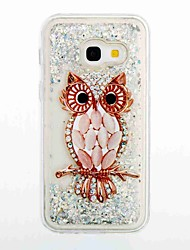 cheap -For Samsung Galaxy A3(2017) A5(2017) Flowing Liquid Pattern Case Back Cover Case Owl Soft TPU for A5(2016) A3(2016)