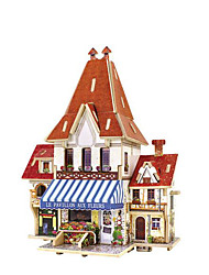 cheap -3D Puzzles Wood Model Model Building Kits Toys House Wood Children's 1 Pieces