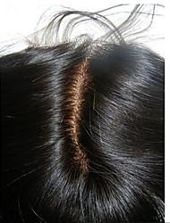 Silk прямое закрытие шнурка 3.5 * 4inch с закрытием волос младенца remy человеческих волос