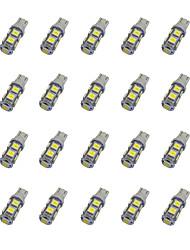 abordables -20pcs T10 Automatique Ampoules électriques 1.2W SMD 5050 85lm LED Éclairage intérieur