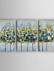 cheap -Hand-Painted Modern Abstract Trees Oil Painting On Canvas Wall Art For Home Decoration Ready To Hang 40*60cm*3Pcs
