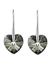 cheap -Women's Heart Crystal Crystal Drop Earrings - Luxury / Vintage / Love As Picture Earrings For Party / Birthday / Daily