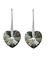 cheap -Women's Heart Crystal Crystal Drop Earrings - Luxury Vintage Love Turkish Euramerican Multi-ways Wear Heart For Party Birthday Daily