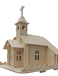 economico -Puzzle 3D Puzzle Giocattoli Chiesa 3D Fai da te Simulazione Legno Unisex Pezzi