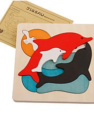 preiswerte -Puzzles Holzpuzzle Bausteine Spielzeug zum Selbermachen Delphin Holz Freizeit Hobbys