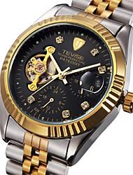 levne -Tevise Pánské Pro páry Automatické natahování mechanické hodinky Kalendář Voděodolné Svítící Nerez Kapela Vintage Na běžné nošení