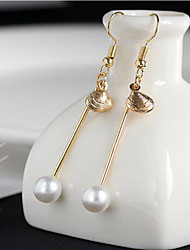 cheap -May Polly Pearl shell long all-match Earrings