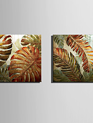 cheap -E-HOME Stretched Canvas Art Magical Leaves  Decoration Painting One Pcs