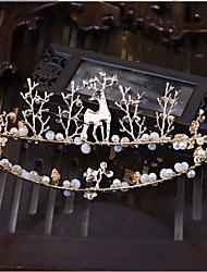 Jóia de strass imitação pérola headpiece-casamento ocasião especial tiaras headbands 1 peça