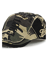 cheap -Men's Cotton Beret Hat Peaked Cap Vintage Casual Camouflage Print Summer All Seasons Black/Beige/Brown