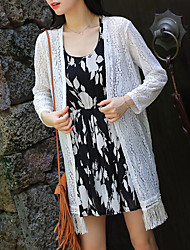 Women's Going out Casual/Daily Beach Sexy Casual Cute Summer Jacket
