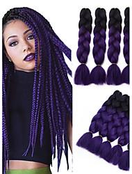 5pcs Two Tone Ombre Jumbo Braid Hair Extension 500g/pack Kanekalon Fiber for Twist Braiding Hair
