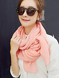 Solid Wrinkle 2017 Cotton Scarf Shawl Thin Long Rectangle Women's