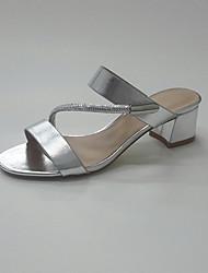 economico -Da donna Scarpe Lustrini PU (Poliuretano) Estate Autunno Anello per dita del piede Club Shoes Sandali Basso Quadrato Punta tonda Con