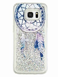 cheap -For Samsung Galaxy S7 edge S7 Flowing Liquid Pattern Case Back Cover Case Dream Catcher Soft TPU for S6 edge S6 S5