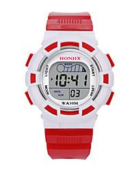 Дети Спортивные часы электронные часы Китайский Цифровой силиконовый Группа Синий Красный Желтый
