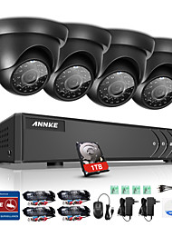 cheap -ANNKE® 8CH 1080N DVR 720P HD Camera Surveillance Security System with IR Cut & Waterproof Monitor & P2P Remote Access 1TB