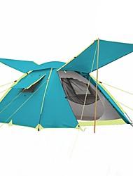 economico -3-4 persone Tenda Doppio Tenda da campeggio Una camera Tenda ripiegabile Anti-pioggia per Campeggio Viaggi CM