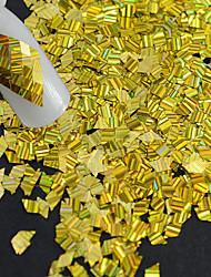 1 garrafa de moda quente novo design glitter ouro deslumbrante paillette decoração unha arte laser listra rhombus fatia fina para a beleza