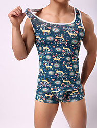 cheap -Men's Super Sexy Undershirt - Print, Animal 1 Piece