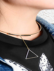Women's Pendant Necklaces Jewelry Triangle Shape Copper Geometric Euramerican Fashion Personalized Jewelry ForBusiness Daily Casual