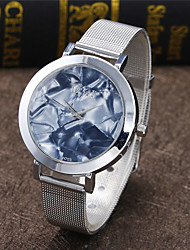 Mulheres Relógio de Moda Relógio de Pulso Quartzo Lega Banda Casual Prata